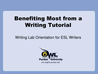 Benefiting Most from a Writing Tutorial