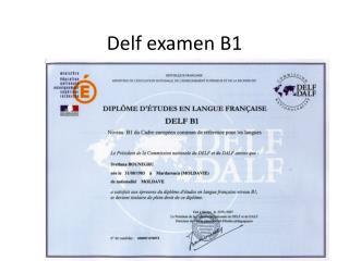 Delf examen B1