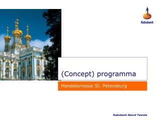 (Concept) programma