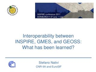 Interoperability between  INSPIRE, GMES, and GEOSS: What has been learned?