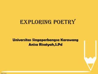 Exploring poetry