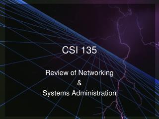 CSI 135