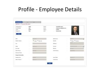 Profile - Employee Details