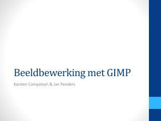 Beeldbewerking met GIMP