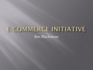 E-Commerce Initiative