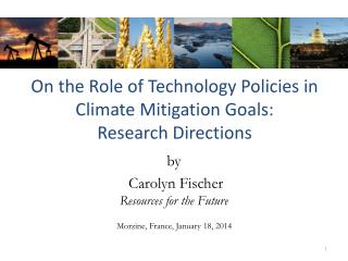 On the Role of Technology Policies in Climate Mitigation Goals: Research Directions