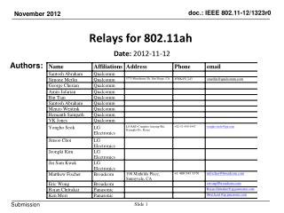Relays for 802.11ah