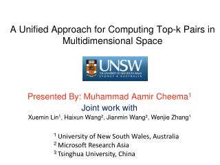 A Unified Approach for Computing Top-k Pairs in Multidimensional Space