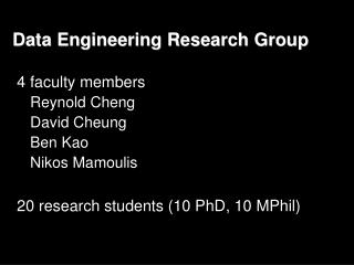Data  Engineering Research Group