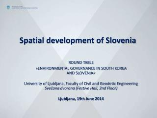 Spatial development of Slovenia