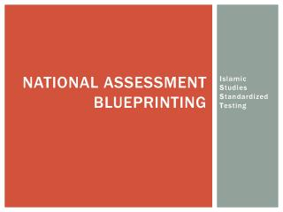 national assessment blueprinting