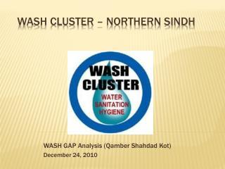 WASH Cluster – Northern Sindh