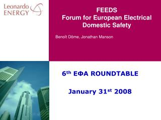 FEEDS Forum for European Electrical Domestic Safety