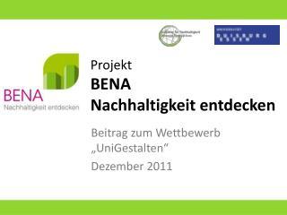 Projekt BENA Nachhaltigkeit entdecken