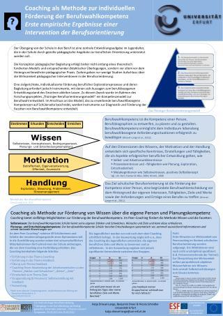 Coaching als Methode zur individuellen Förderung der Berufswahlkompetenz