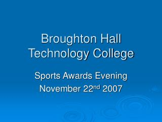 Sports Awards Evening 2007