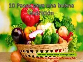 10 Pasos para una buena Nutrición