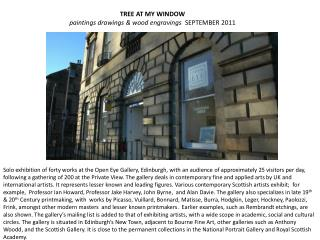 TREE AT MY WINDOW paintings drawings & wood engravings   SEPTEMBER 2011