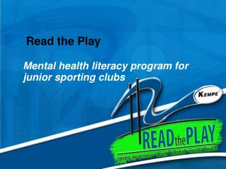Read the Play  Mental health literacy program for junior sporting clubs
