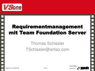 Requirementmanagement mit  Team Foundation Server