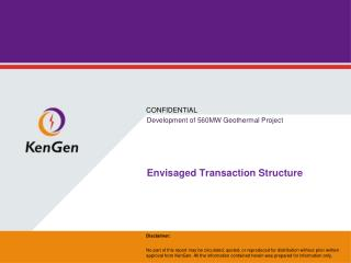 Envisaged Transaction Structure
