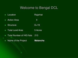 Welcome to Bengal DCL