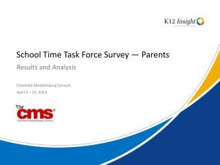 School Time Task Force Survey — Parents