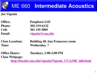 ME  660    Intermediate Acoustics