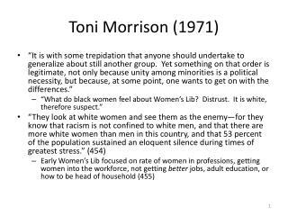 Toni Morrison (1971)