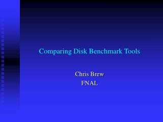Comparing Disk Benchmark Tools