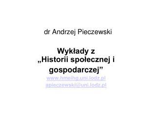 dr Andrzej Pieczewski