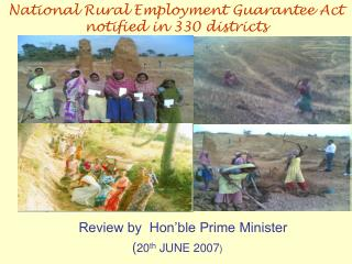 Review by  Hon ble Prime Minister  20th JUNE 2007
