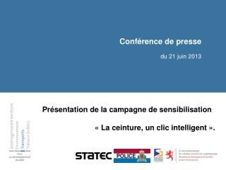 Conférence de presse du  21 juin  2013