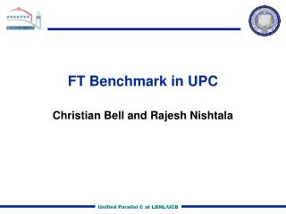 FT Benchmark in UPC