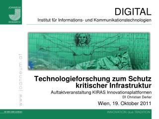 Technologieforschung zum Schutz kritischer Infrastruktur