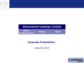 Corporate Presentation   September 2010