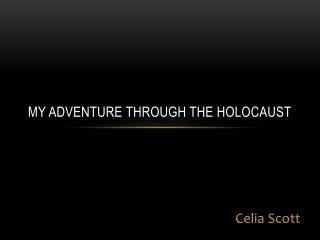 MY adventure through the holocaust