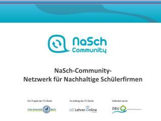 NaSch -Community- Netzwerk für Nachhaltige Schülerfirmen