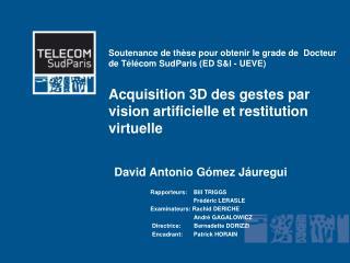 David Antonio Gómez  Jáuregui  Rapporteurs:    Bill TRIGGS              Frédéric LERASLE