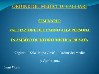 """Cagliari  -  Sala """"Pippo Orrù""""  -  Ordine dei Medici 5  Aprile  2014 Luigi Floris"""