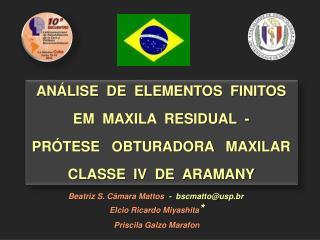 AN�LISE  DE  ELEMENTOS  FINITOS   E M MAXILA  RESIDUAL  - PR�TESE   OBTURADORA   MAXILAR