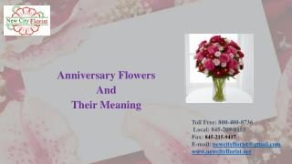 Anniversary Flowers  And  Their Meaning