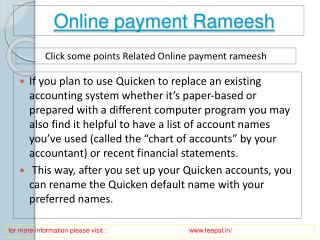 The Advantages of online payment  rameesh