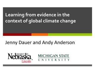 Learning from evidence in the context of global climate  change