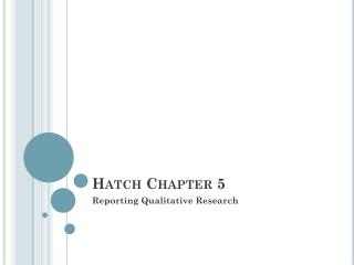 Hatch Chapter 5