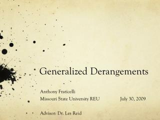 Generalized Derangements
