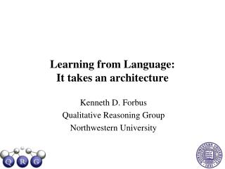Learning from Language:  It takes an architecture