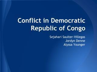 Conflict in Democratic Republic of Congo