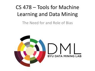 CS 478 � Tools for Machine Learning and Data Mining