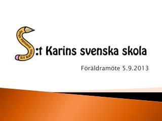 Föräldramöte 5.9.2013